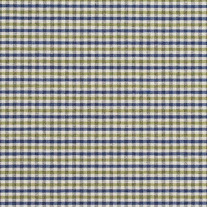 Essentials Blue Lime White Plaid Upholstery Fabric / Laguna Check
