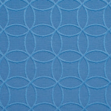Load image into Gallery viewer, Essentials Blue Medallion Geometric Damask Upholstery Fabric
