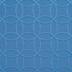 Essentials Blue Medallion Geometric Damask Upholstery Fabric