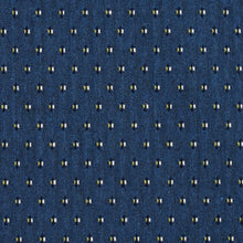 Load image into Gallery viewer, Essentials Blue Navy Lime White Upholstery Fabric / Laguna Dot