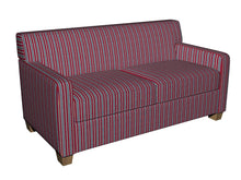 Load image into Gallery viewer, Essentials Blue Red Beige Lime Upholstery Fabric / Patriot Stripe