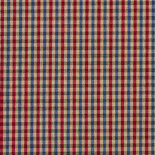 Load image into Gallery viewer, Essentials Blue Red Beige Plaid Upholstery Fabric / Patriot Check