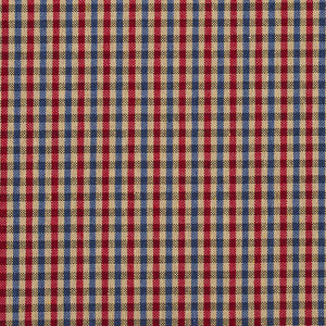 Essentials Blue Red Beige Plaid Upholstery Fabric / Patriot Check
