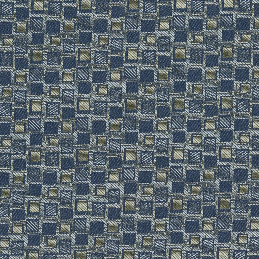 Essentials Stain Repellent Upholstery Fabric Blue / Squares Navy