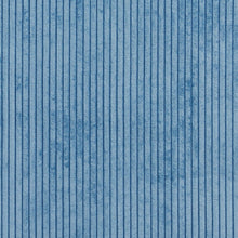 Load image into Gallery viewer, Essentials Blue Velvet Velour Stripe Upholstery Fabric