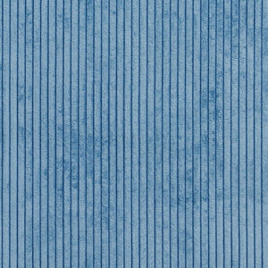 Essentials Blue Velvet Velour Stripe Upholstery Fabric