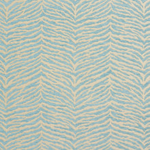 Load image into Gallery viewer, Essentials Chenille Blue White Animal Pattern Zebra Tiger Upholstery Fabric