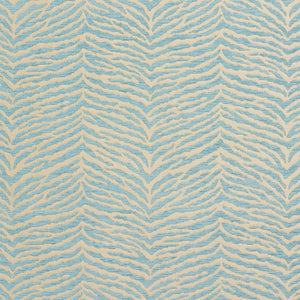 Essentials Chenille Blue White Animal Pattern Zebra Tiger Upholstery Fabric