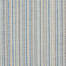 Load image into Gallery viewer, Essentials Blue White Beige Brown Stripe Nautical Upholstery Fabric