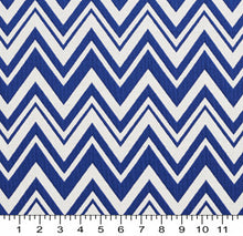 Load image into Gallery viewer, Essentials Blue White Chevron Geometric Nautical Upholstery Fabric