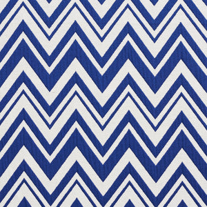 Essentials Blue White Chevron Geometric Nautical Upholstery Fabric