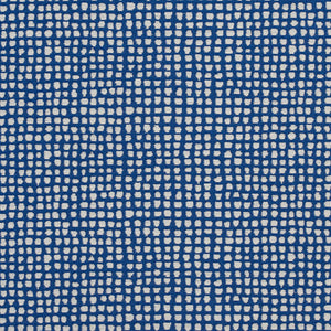 Essentials Blue White Geometric Point Upholstery Fabric