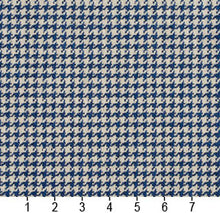 Load image into Gallery viewer, Essentials Blue White Upholstery Fabric / Laguna Houndstooth