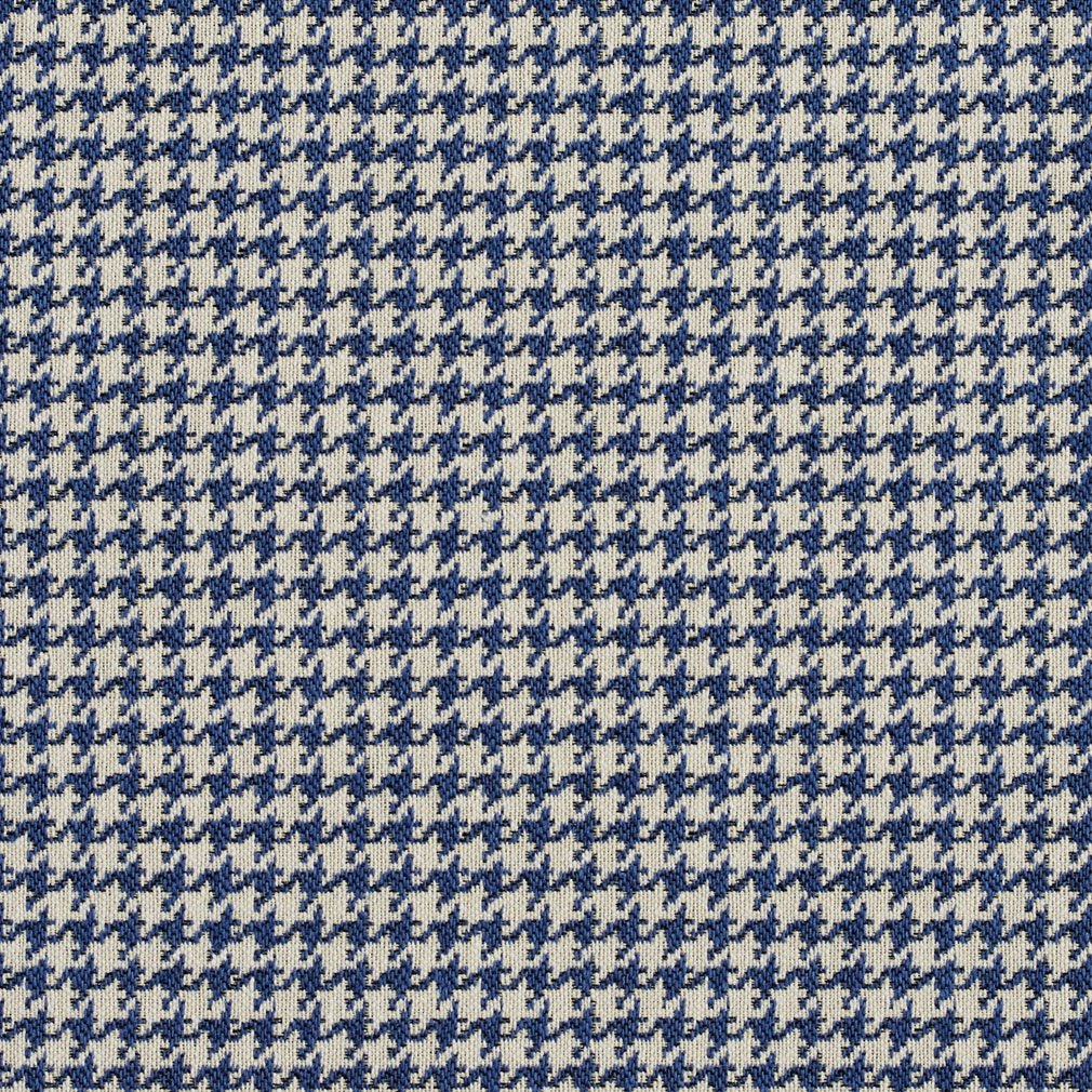 Essentials Blue White Upholstery Fabric / Laguna Houndstooth