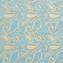 Load image into Gallery viewer, Essentials Chenille Blue White Paisley Upholstery Fabric