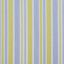 Load image into Gallery viewer, Essentials Outdoor Stain Resistant Upholstery Drapery Fabric Blue Yellow / Spring Wide Stripe