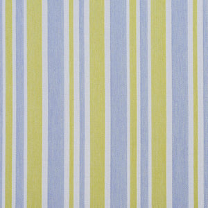 Essentials Outdoor Stain Resistant Upholstery Drapery Fabric Blue Yellow / Spring Wide Stripe