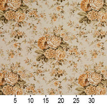 Load image into Gallery viewer, Essentials Botanical Beige Sienna Gold Ivory Green Rose Floral Print Upholstery Drapery Fabric