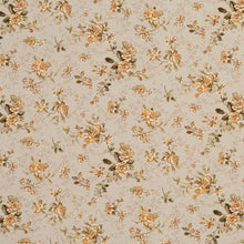 Load image into Gallery viewer, Essentials Botanical Beige Sienna Gold Green Rose Floral Print Upholstery Drapery Fabric