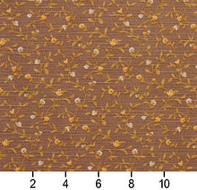 Load image into Gallery viewer, Essentials Botanical Brown Gold Beige Rose Floral Print Upholstery Drapery Fabric