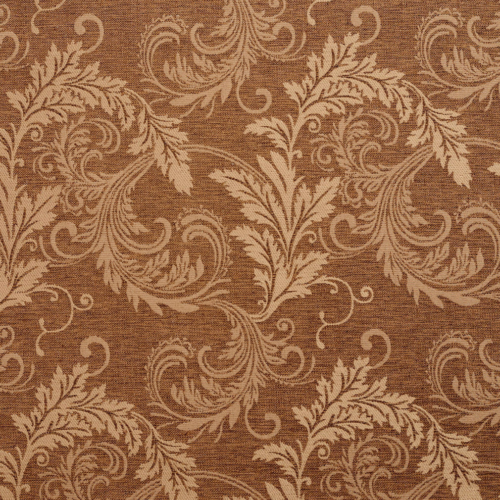 Essentials Heavy Duty Upholstery Drapery Botanical Fabric Brown / Harvest Leaf