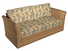 Load image into Gallery viewer, Essentials Outdoor Upholstery Drapery Botanical Fabric / Brown Olive Blue
