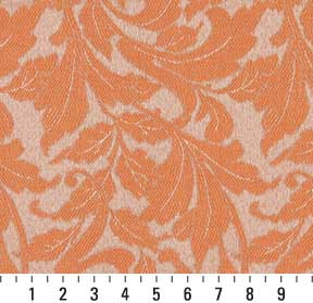 Essentials Indoor Outdoor Upholstery Drapery Botanical Fabric Coral / Nectar Leaf
