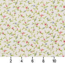 Load image into Gallery viewer, Essentials Botanical Crimson Blue Lime White Rose Floral Print Upholstery Drapery Fabric