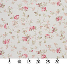 Load image into Gallery viewer, Essentials Botanical Crimson Green White Rose Floral Print Upholstery Drapery Fabric