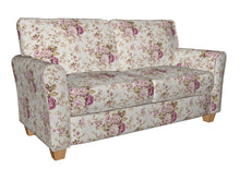 Load image into Gallery viewer, Essentials Botanical Ivory Pink Mauve Green Rose Floral Print Upholstery Drapery Fabric