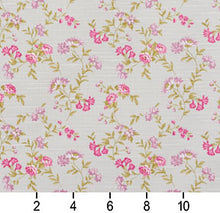 Load image into Gallery viewer, Essentials Botanical Ivory Pink Mauve Lime Rose Floral Print Upholstery Drapery Fabric