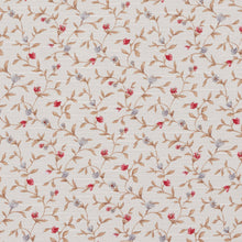 Load image into Gallery viewer, Essentials Botanical Ivory Red Blue Sienna Rose Floral Print Upholstery Drapery Fabric