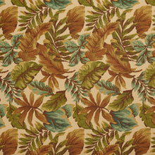 Load image into Gallery viewer, Essentials Outdoor Upholstery Drapery Botanical Leaf Fabric / Beige Blue Green