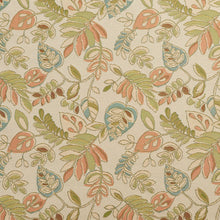 Load image into Gallery viewer, Essentials Outdoor Upholstery Drapery Botanical Leaf Fabric / Beige Coral Green