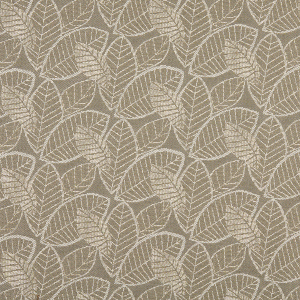 Essentials Outdoor Upholstery Drapery Botanical Leaf Fabric / Gray