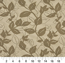 Load image into Gallery viewer, Essentials Outdoor Upholstery Drapery Botanical Leaf Fabric / Tan Gray