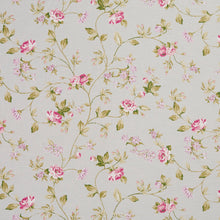 Load image into Gallery viewer, Essentials Botanical Light Blue Pink White Green Rose Floral Print Upholstery Drapery Fabric
