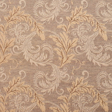 Load image into Gallery viewer, Essentials Heavy Duty Upholstery Drapery Botanical Fabric Light Brown / Antique Leaf