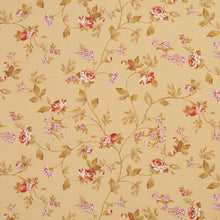 Load image into Gallery viewer, Essentials Botanical Mustard Red Mauve White Olive Rose Floral Print Upholstery Drapery Fabric