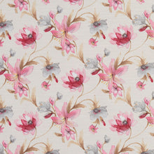 Load image into Gallery viewer, Essentials Botanical Navy Crimson Pink Sienna White Rose Floral Print Upholstery Drapery Fabric