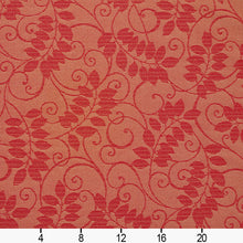 Load image into Gallery viewer, Essentials Indoor Outdoor Upholstery Drapery Botanical Fabric Red / Ruby Vine