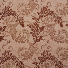 Load image into Gallery viewer, Essentials Heavy Duty Upholstery Drapery Botanical Fabric Sienna / Latte Leaf