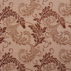 Essentials Heavy Duty Upholstery Drapery Botanical Fabric Sienna / Latte Leaf