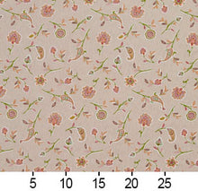Load image into Gallery viewer, Essentials Botanical Tan Coral Lime Rose Floral Print Upholstery Drapery Fabric