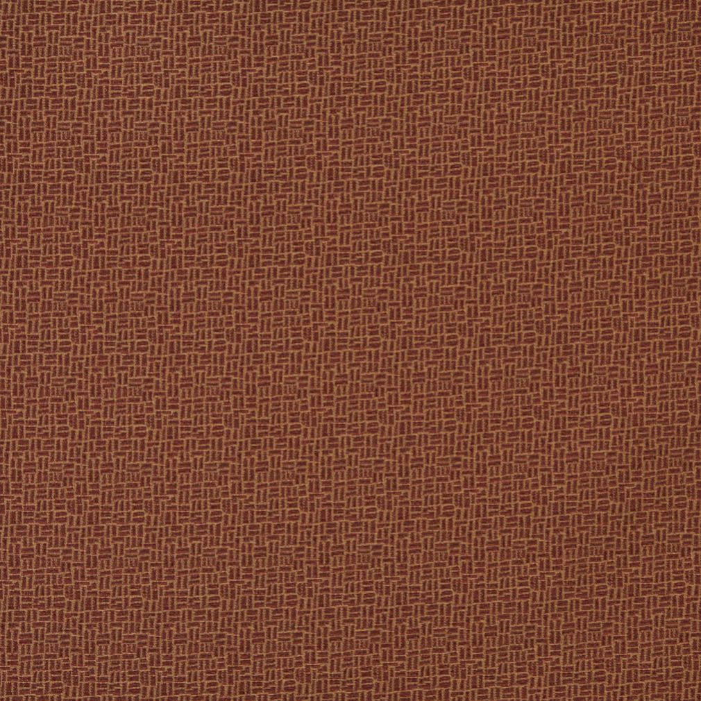 Essentials Brown Abstract Upholstery Fabric / Cognac