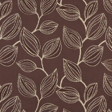 Load image into Gallery viewer, Essentials Cityscapes Brown Beige Botanical Leaf Pattern Upholstery Fabric
