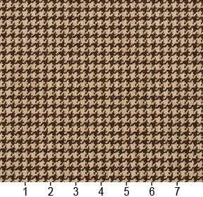 Essentials Brown Beige Upholstery Fabric / Desert Houndstooth