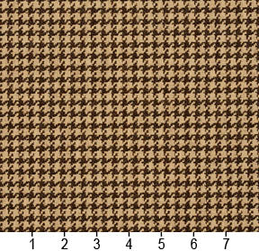 Essentials Brown Beige Upholstery Fabric / Espresso Houndstooth
