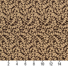 Load image into Gallery viewer, Essentials Brown Beige Upholstery Fabric / Espresso Vine