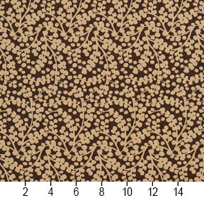 Essentials Brown Beige Upholstery Fabric / Espresso Vine